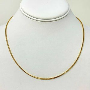Jewelry - 14k Gold Thin Squared Franco Link Chain Necklace